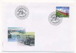 """SUISSE - 2 Enveloppes FDC """"Jungfraujoch Top Of Europe"""" - 2012 - Trenes"""
