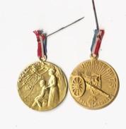 Lot De 2 Médailles Métal-  Aide Nous à Les Sauver - Lalique Et  Journée Du 75  1914-1915 - Francia