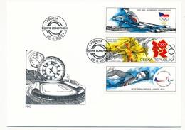 TCHEQUIE - J.O De Londres - 1 Enveloppe FDC - Prague 2012 - Summer 2012: London
