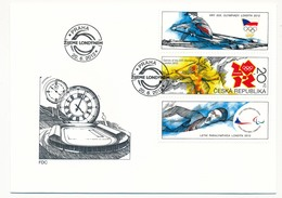 TCHEQUIE - J.O De Londres - 1 Enveloppe FDC - Prague 2012