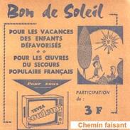 1971 - Billet De Loterie BON DE SOLEIL Pour Les Oeuvres Du Secours Populaire Français - Lotterielose