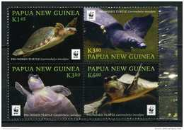 WWF W.W.F. Papua New Guinea MNH Perf Stamps 2016 : Pig-nosed Turtle - W.W.F.