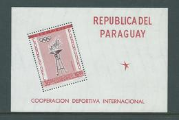 Paraguay 1962 Summer Olympic Games History Tokyo Miniature Sheet MNH - Paraguay