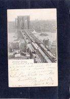 67945    Stati  Uniti,  Brooklyn  Bridge,  Birds Eye View,  N. Y. City,  VG  1904 - Ponti E Gallerie