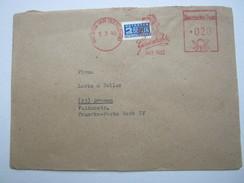 Firmenfreistempel Auf Brief , Meterstempel , Auf Beleg  Aus  WESTIG  1949 - American/British Zone