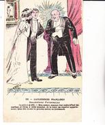 CPA HUMOUR. Gauloiseries Françaises, Sollicitude Paternelle. ...E027 - Humour