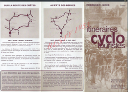 DEPLIANT PUBLICITAIRE TOURISTIQUE ITINÉRAIRE CYCLO ( VELO ) À SARLAT : - Tourism Brochures