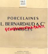 87- LIMOGES - PUBLICITE PORCELAINES L. BERNARDAUD - PORCELAINE BLANCHE - IVOIRE - France