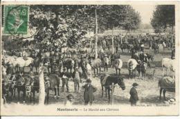 MONTMERLE......AIN.....le Marché Aux Chevaux.....innombrable Chevaux Et Personnages.....à Voir.....en 1912 - Frankreich