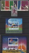 RO 79 - ROUMANIE N° 2698/2704 + BF 98/99 Neufs** Avec Bloc Non-dentelé Jeux Olympiques De Munich - Blocks & Sheetlets