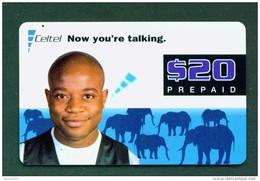 SIERRA LEONE - Remote Phonecard/Man And Elephants - Sierra Leone