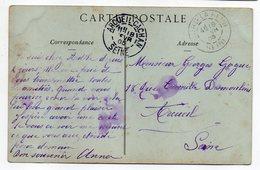 """1905--Beaux Cachets Manuels""""ARCUEIL-CACHAN""""et BOURG LA REINE Sur Cp Musée Louvre-N.Lancret - Marcophilie (Lettres)"""