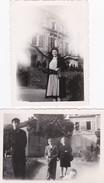 Lot De 2 Clichés -  NOLAY  - Fête De La Libération En 1945 - Kermesse à L'Orphelinat - Voir Description - France