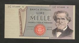 REPUBBLICA ITALIANA - BANCA D' ITALIA - 1000 Lire - VERDI II° Tipo - (1975 - Firme: Carli / Barbarito) - [ 2] 1946-… : Repubblica