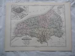 Superbe Carte ORIGINALE Du Milieu 19° Siècle Du Département De La SEINE INFERIEURE (Seine Maritime) - Cartes