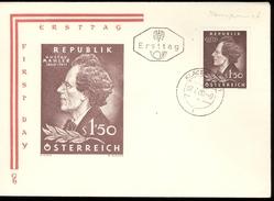 1960  Fdc Enveloppe    Muziek  Music  -  Gustav Mahler - FDC