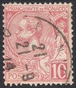 Monaco, 10 C. 1901, Sc # 16, Mi # 23, Used. - Monaco