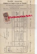 16 - CHABANAIS- FACTURE STE ECLAIRAGE ELECTRICTE - M. MOREAU MENUISIER ROCHECHOUART- 1926 - France