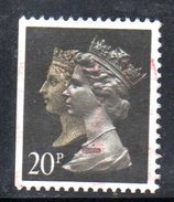 XP2257 - GRAN BRETAGNA 1990 , 20 Pence Usato . PENNY BLACK  ANNIVERSARY - Usados