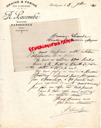 16 - BARBEZIEUX- LETTRE MANUSCRITE R. LACOMBE- BOULANGER- BOULANGERIE- 1920 - France