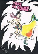 """2 Affichettes R(egistres) C(inéma) A(udiovisuel) """"Pousse L'Ananas...""""et """"Tape La Poire..."""" Pub CHOC PROMOTION Paris - Plakate & Poster"""