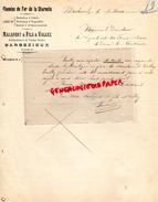 16 - BARBEZIEUX- LETTRE MANUSCRITE MALAPERT & FILS & WALLEZ- CHEMINS DE FER CHARENTE- TRAVAUX PUBLICS- 1910 - France
