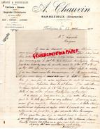 16 - BARBEZIEUX- LETTRE MANUSCRITE A. CHAUVIN - GRAINES GRAINS FOURRAGES-FARINES- NOIX- 1920 - France