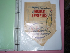 Publicité Sac Papier Poche Papier Huile LESIEUR - Advertising