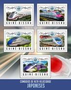 Guinee-Bissau - Postfris / MNH - Sheet Japanse Treinen 2016 - Guinea-Bissau