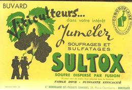 Buvard Viticulteurs Dans Votre Intérêt Jumelez Soufrages Et Sulfates SULTOX - Agricoltura