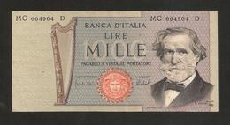 REPUBBLICA ITALIANA - 1000 Lire - VERDI II° Tipo - (1975 - Firme: Carli / Barbarito) - [ 2] 1946-… : Repubblica