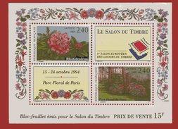 Bloc Feuillet N° 15 Le Salon Du Timbre Cote 12 Euros   NEUF ** - Mint/Hinged