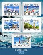 Guinee-Bissau - Postfris / MNH - Sheet Vuurtorens 2016 - Guinea-Bissau