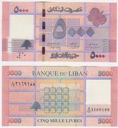 Lebanon P 91 - 5000 5.000 Livres 2012 - UNC - Libano