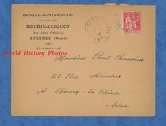 Enveloppe Ancienne - AVESNES ( Nord ) - Boulangerie BOUDIN CLIQUOT - Rue Léon Pasqual - 1933 - Frankrijk