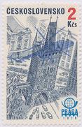 Czechoslovakia / Stamps (1976) L0082 (Air Mail Stamp): PRAGA 78 (Prague, Powder Tower); Painter: J. Lukavsky - Helicópteros