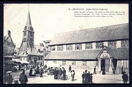 CPA ANCIENNE- FRANCE- HONFLEUR (14)- EGLISE SAINTE CATHERINE UN JOUR DE MARCHÉ- BELLE ANIMATION- - Honfleur