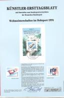 Bund   Künstler-Ersttagsblatt  7/1991   #  07027   Weltmeisterschaften Im Bobsport 1991 - [7] Federal Republic