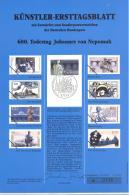 Bund   Künstler-Ersttagsblatt  9/1993   #  0756   600. Todestag Johannes Von Neponuk - Usados