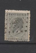 COB 17A Dentelé 15 Oblitéré Pt 363 TOURNAI Catalogue COBA 2016 +1 - 1865-1866 Linksprofil