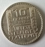 10 Francs TURIN 1932 - TTB - - France