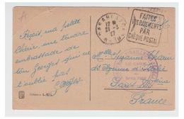 FRANCE -- MAROC --CARTE POSTALE EN FRANCHISE -- REGIMENT DE TIRAILLEURS SENEGALAIS --LE CHEF DE CORPS--1927--EN L'ETAT-- - Morocco (1891-1956)