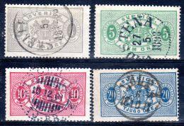 1874-96, SUEDE - Timbres De Service, YT 2, 3, 5, 17, Oblitéré, Lot 47136 - Dienstpost