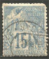 370 Colonies Françaises 1881 15c Bleu Alphée Dubois (f3-EG-20)