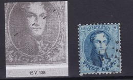 N° 15 A VARIETE Tirets Sur L Effigie Bien Dégagée Position 138 - 1863-1864 Medallions (13/16)