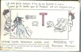 "Buvard  PHOSPAL ""G"" - Procédés Péchiney, Rébus - Agriculture"