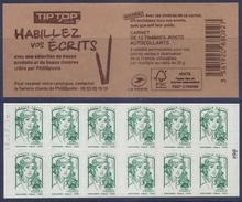 C - Ciappa Lettre Verte -  Tip Top Habillez Vos écrits - Date En Haut N° 98 (2017) Neuf** - Usage Courant