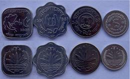 BANGLA DESK SERIE 4 MONETE TAKKA FDC UNC - Bangladesh