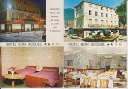 D31 - LUCHON - HOTEL BON ACCUEIL - RESTAURANT TOURISTIQUE - CPSM DOUBLE Grand Format - Luchon