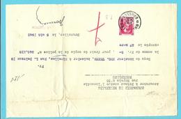 """528 Op Recu Stempel BRUXELLES, Met Firmaperforatie (perfin) """" P.B. """" - 1934-51"""